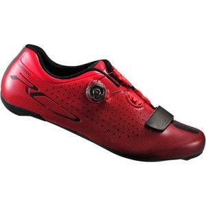 シマノ(SHIMANO) レッド SH-RC700RE ワイドタイプ ビンディングシューズ ロードバイク メンズ 38-40.5サイズ 自転車 サイクル SPD-SL レース 靴|esports