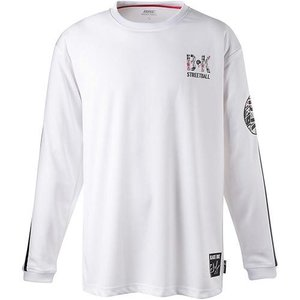 バイク(BIKE) メンズ バスケットボールウェア ロングプラクティスシャツ BKロゴ ホワイト B...
