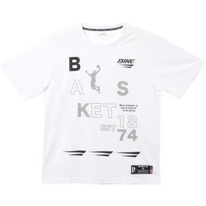バイク (BIKE) メンズ バスケットボール プラクティスTシャツ ホワイト BK5900 0100 半袖 Tシャツ トップス 練習の商品画像 ナビ