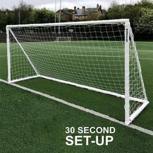 クイックプレイ(QUICKPLAY) Q-FOLD 折り畳み式 サッカーゴール 5.0m×2.0m UPVC製 全天候型 QF-16 サッカー フットサル ミニサッカー 室内・屋外兼用 練習