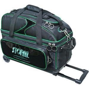 ハイ スポーツ(Hi-SP) ボウリングバッグ SB139-CI 2ボールキャリーバッグ ブラック×グリーン P-2185 ボーリングバッグ 鞄 バック ボール入れ|esports