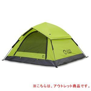 クイックキャンプ (QUICKCAMP) ワンタッチテント 3人用 グリーン QC-OT210 アウトドア フェス キャンプ用 フルクローズ UVカット サンシェードテント UVカット