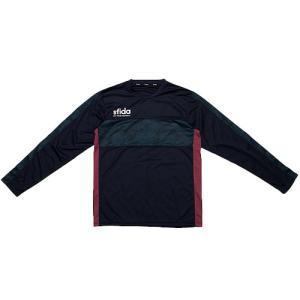 今シーズンのスターカモ柄を組み合わせた長袖プラクティスシャツ。・sfidaロゴをイメージしたハニカム...