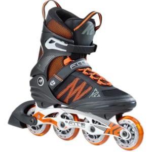 ケーツー(K2) メンズ インラインスケート F.I.T. 80 ALU エフアイティー 80 ブラック/オレンジ I170201101 ローラースケート 大人用 四輪