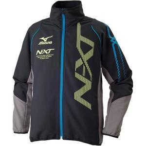 ミズノ(MIZUNO) NXT ムーヴクロスシャツ ブラック×トルネード 32MC704009 トレーニングウェア ウィンドブレーカー ウォームアップ メンズ esports