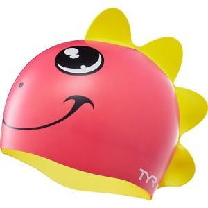 ティア(TYR) ジュニア シリコン スイムキャップ CHARAC TYRS DINO DIVA SWIM CAP LCSGDNO PKYL 水泳帽 キッズ 子供|esports