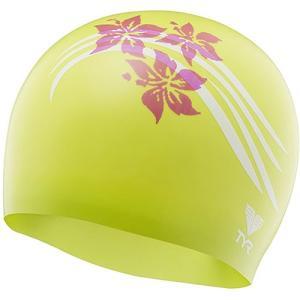 ティア(TYR) フラワーズ シリコン スイムキャップ FLOWERS SILICONE SWIM CAP GN/PK LCSFLRS 水泳帽 トライアスロン|esports