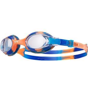 ティア(TYR) キッズ スイムゴーグル タイダイ TIE DYE CL/BL/OR LGSWTD 水泳用ゴーグル ジュニア 子供用|esports