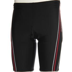 スピード(speedo) メンズ スパッツ SD87S83H (KR)ブラック/レッド メンズフィットネス水着 男性用|esports