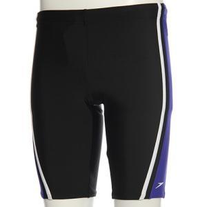 スピード(speedo) メンズ スパッツ SD87S84H (KB)ブラック/ブルー メンズフィットネス水着 男性用|esports