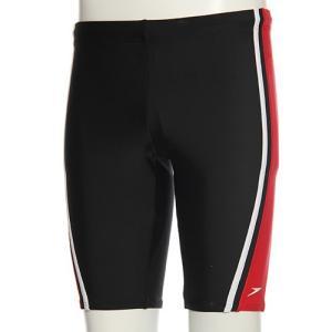 スピード(speedo) メンズ スパッツ SD87S84H (KR)ブラック/レッド メンズフィットネス水着 男性用|esports