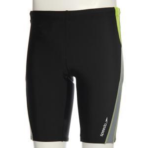 スピード(speedo) メンズ スパッツ SD87S85H (KG)ブラック/グリーン メンズフィットネス水着 男性用|esports