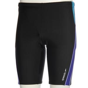 スピード(speedo) メンズ スパッツ SD87S85H (KB)ブラック/ブルー メンズフィットネス水着 男性用|esports