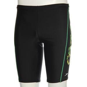 スピード(speedo) メンズ スパッツ SD87S87H (KG)ブラック/グリーン メンズフィットネス水着 男性用|esports