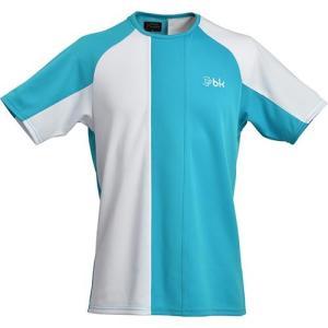 ブラックナイト(Black knight) メンズ レディース ジュニア バドミントン ゲームウェア ターコイズホワイト T-8590 TQBWHT 半袖 Tシャツ|esports