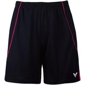 ビクター(VICTOR) ハーフパンツ(レディース) ブラック/ローズレッド R-5090 CQ テニス バドミントン 半ズボン ボトムス|esports