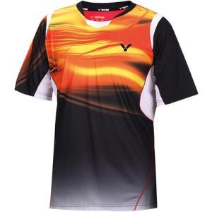 ビクター(VICTOR) ゲームシャツ(ユニセックス) ブラック T-5000 C テニス バドミントン ウェア メンズ レディース|esports