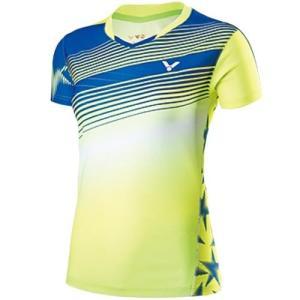 ビクター(VICTOR) ゲームシャツ レディース グリーン T-71003 G バドミントン ウェア|esports