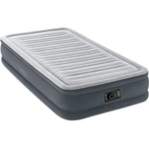 インテックス(INTEX) コンフォートプラッシュ ミッドライズ エアベッド TWIN(シングル) 67765 電動エアベッド エアーベッド 寝具 マットレス