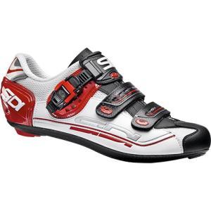 シディ(SIDI) ジェニウス GENIUS 7 ビンディングシューズ WHT/BLK/RED ホワイト/ブラック/レッド SPD-SL 自転車 サイクルシューズ ロードバイク スポーツ|esports