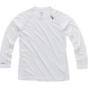 ギル(Gill) レースロングスリーブTシャツ ホワイト RS07 メンズ マリンウェア ロングTシ...
