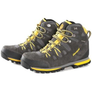 ハナガル(hanagal) 登山靴 ハイカット メンズ グレー×イエロー HO-1304 シューズ ブーツ 防水 ビブラム|esports