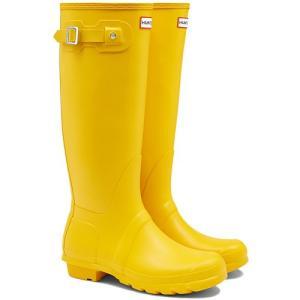 ハンター(HUNTER) レディース オリジナルトール イエロー WFT1000RMA 長靴 ロングブーツ ラバーブーツ 雨靴 esports