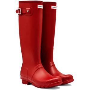 ハンター(HUNTER) レディース オリジナルトール ミリタリー レッド WFT1000RMA 長靴 ロングブーツ ラバーブーツ 雨靴 esports