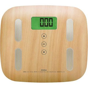 ●納期:翌営業日●返品交換:未使用に限る [本商品について]木目調のシンプルデザインの体組成計!乗る...