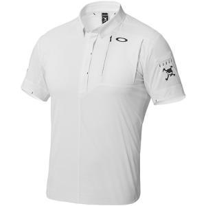 オークリー(OAKLEY) メンズ ゴルフ シャツ SKULL SPREAD WOVEN SHIRTS ポロシャツ ホワイト 401896JP 半袖 ゴルフウェア|esports