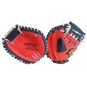 プロマーク (Promark) 一般用キャッチャーミットRH(左投げ) PCM-4253RH レッドオレンジ×ブラック 野球 一般軟式用 グローブ esports