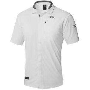オークリー(OAKLEY) メンズ ゴルフ ポロシャツ ホワイト SKULL SYNCHRONISM SHIRTS 1.0 401910JP トップス 半袖 シャツ ゴルフウェア|esports