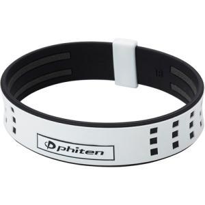 ファイテン (phiten) ブレスレット RAKUWA ブレスS Duoタイプ ホワイト/ブラック...