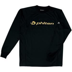 ファイテン(phiten) RAKUシャツSPORTS (吸汗速乾) 長袖 ブラック/金ロゴ 311...