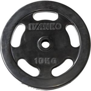 イヴァンコ(IVANKO) スタンダードラバープレート イージーグリップ 10kg×1枚 バーベル/ダンベルプレート|esports