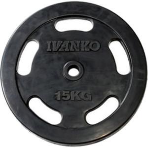 IVANKO(イヴァンコ) スタンダードラバープレート イージーグリップ 15kg×1枚 バーベル/ダンベルプレート