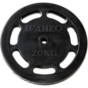 IVANKO(イヴァンコ) スタンダードラバープレート イージーグリップ 20kg×1枚 バーベル/ダンベルプレート