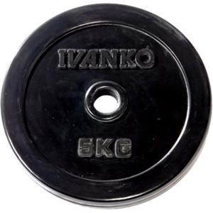 イヴァンコ(IVANKO) スタンダードラバープレート 5kg×1枚 バーベル/ダンベルプレート
