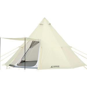 キャプテンスタッグ CAPTAINSTAG テント CSクラシック ワンポールテント オクタゴン460UV 8人用 UA-35 キャンプ ホワイト 白 おしゃれ ティピー|esports