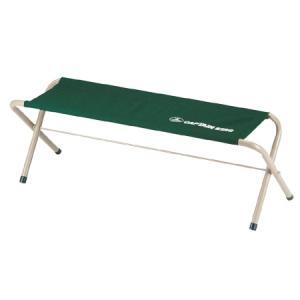 キャプテンスタッグ(CAPTAINSTAG) フォールディングベンチ (グリーン) M-3879 キャンプ アウトドア バーベキュー 椅子 運動会|esports