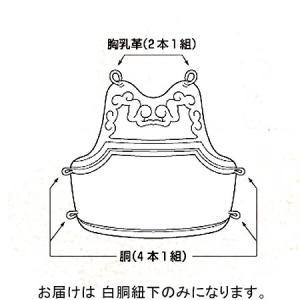 九櫻(KUSAKURA) 白胴紐下 白 KH13 剣道 防具 部品