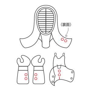 九櫻(クサクラ) 剣道具ネーム刺繍(1文字) NO1 ネーム加工料