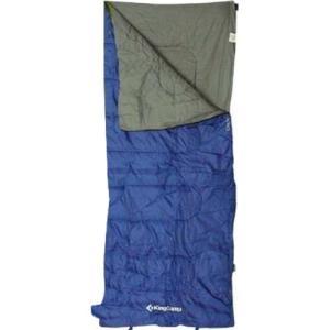 キングキャンプ 寝袋 オキシゲン 封筒型 シュラフ 夏用 最低使用温度8度 ブルー KS3122 アウトドア キャンプ 車中泊 非常用|esports
