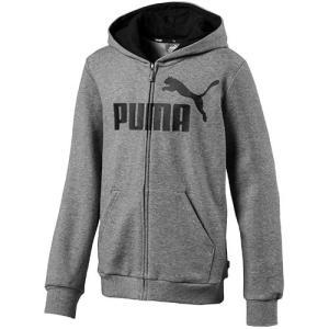 プーマ(PUMA) ジュニア ESS フーデッドスウェットジャケット ミディアムグレーヘザー 853...
