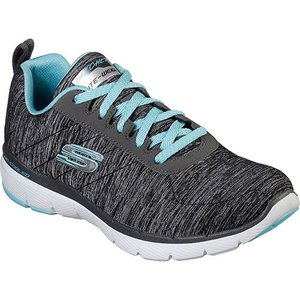 スケッチャーズ(SKECHERS) レディース スニーカー FLEX APPEAL 3.0-INSIDERS ブラック/ブルー 13067 BKLB カジュアル ウォーキング シューズ 靴