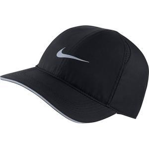 ナイキ(NIKE) メンズ レディース ランニング キャップ ラン フェザーライト ブラック/(リフレクティブシルバー) MISC AR1998 010 ランニングキャップ 帽子