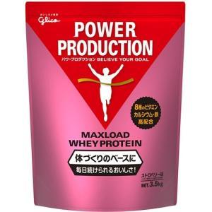 グリコ glico パワープロダクション マックスロードホエイプロテイン ストロベリー味 3.5kg...