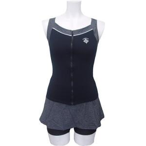 ラシエロ(LACIELO) 3点セット スカート付 セパレート LAS1651 BLK レディースフィットネス水着 女性用 esports