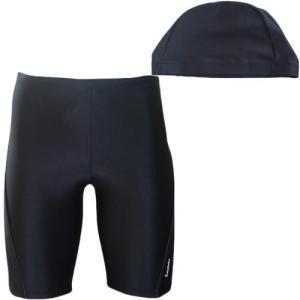 ラシエロ(LACIELO) キャップ付きメンズスイムパンツ BLK/CAB LMP1615 メンズフィットネス水着 男性用|esports