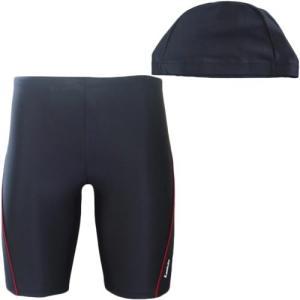 ラシエロ(LACIELO) キャップ付きメンズスイムパンツ BLK/RED LMP1615 メンズフィットネス水着 男性用|esports